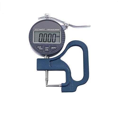 XASY Digital Fühlerlehre Dickenmessgerät,Dickenmesser Digital Dial Indicator Messgerät Zifferblatt für Stahlrohr Aluminiumrohr Stroh Dickenmessung (0.001mm)