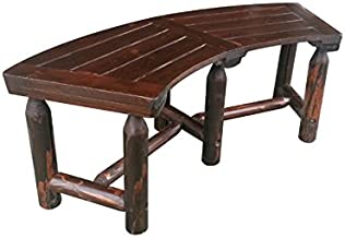 Leigh Country Char-Log Curved Bench