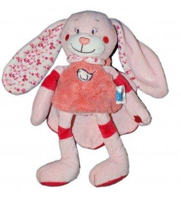 Doudou peluche conejo rosa pájaro Cape Tex Baby CMI Carrefour