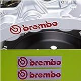 Brembo Lot de 2 autocollants pour étrier de frein à haute température Rouge