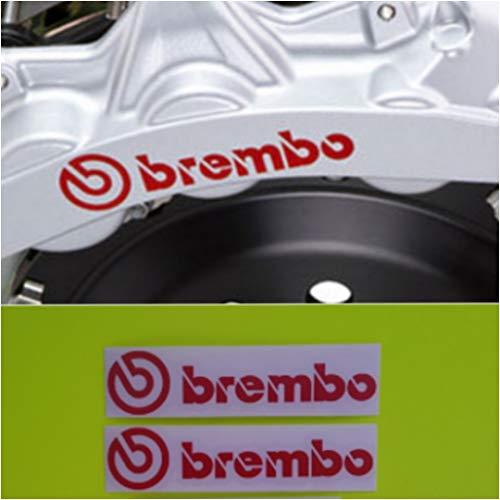 Brembo Bremssattel-Aufkleber, hohe Temperatur, Rot, 2 Stück
