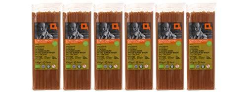 ジロロモーニ 全粒粉デュラム小麦 有機スパゲッティ 500g×6個★宅配便★有機栽培デュラム小麦を丸ごと粗挽き(セモリナ)し、じっくり低温乾燥しました。濃い小麦の風味、食物繊維・鉄・マグネシウム・亜鉛・ビタミンB6が豊富。太さ1.65mm。ゆで時間8分。