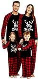 Baonmy Onesie Family Matching Christmas Pajama Set (Kid 6-7Y, Black(Plaid))