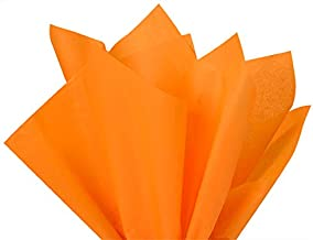 Brand New Tangerine Light Orange Bulk Tissue Paper 15 Inch x 20 Inch - 100 Sheets Premium Quality Gift WRAP Paper A1 Bakery Supplies Made in USA
