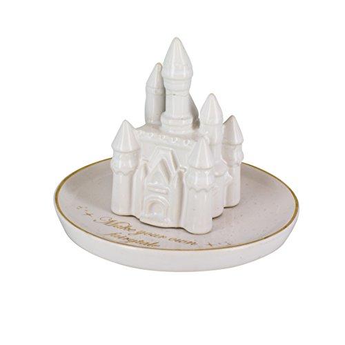 Disney Princess Castillo Joyero Plato, cerámica, Multicolor, 12x 12x 10cm