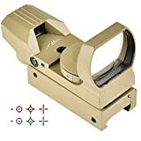 5. CVLIFE 1X22X33 Red Green Dot Gun Sight Scope Reflex Sight with 20mm Rail