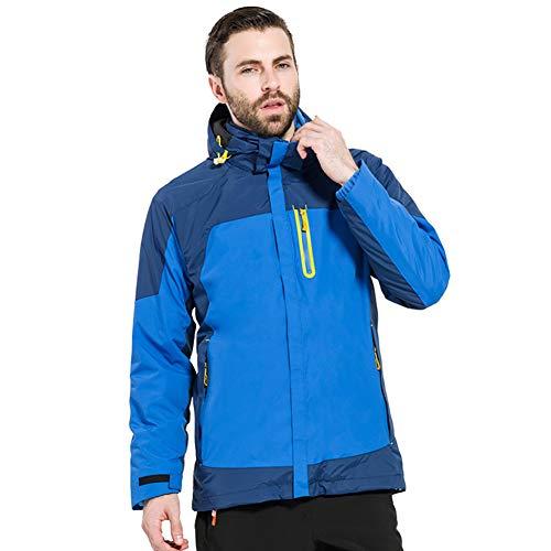 Vestes d'extérieur 3-en-1 Vestes de Ski pour Les Femmes Hommes, Imperméable Veste de Montagne avec intérieur Polaire Coupe-Vent Costume de Ski-A M