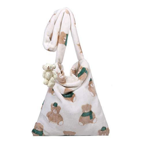 JINGDU - Bolso bandolera para mujer, diseño de oso