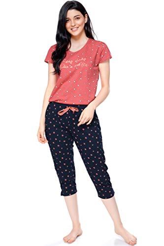 ZEYO Women's Cotton Star Print Night Suit Pack of 1...