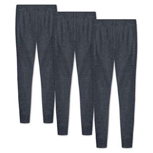HEATEX Kinder Lange Thermounterhose Thermoleggings mit Baumwolle (3 Pack) Anthrazit 152-164