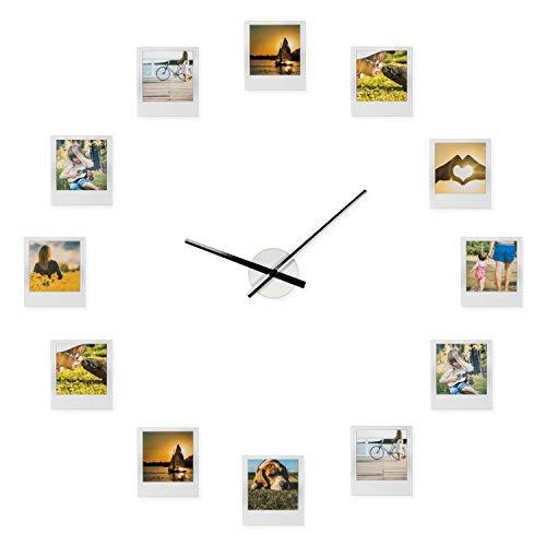 Froster Impressions Clock - Orologio composto da cornici portafoto, regalo ideale per fidanzata, fidanzato, nonni, genitori, San Valentino, matrimonio e regalo di nozze