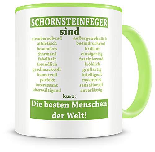 Samunshi® Schornsteinfeger sind Tasse Beruf Geschenk Kaffeetasse Teetasse Kaffeepott Kaffeebecher Becher Schornsteinfeger sind. 300ml grün