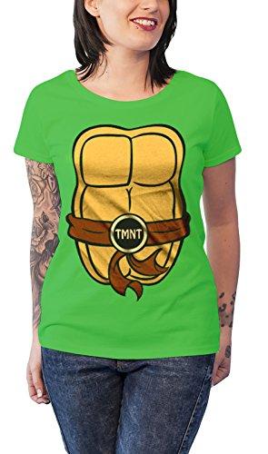 Teenage Mutant Ninja Turtles T Shirt Costume Nue offiziell damen Skinny Fit