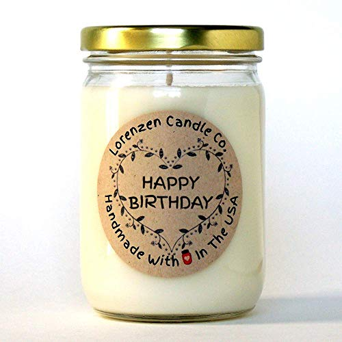 Happy Birthday Soy Candle, 12oz | Handmade in the USA with 100% Soy Wax