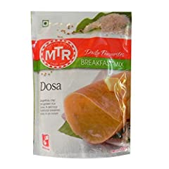 MTR Daily FAvourites Dosa (Pan Cake) Mix Simple 4 step recipe on the pack Suitable for vegetarians Makes about 10 Dosas Export Pack
