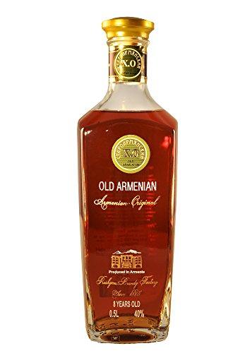 "Armenischer Brandy \""Old Armenian\"", 0,5L, 40{98494d4fe4acdb6fb0cb847d70097959c1158ff0c16eb314ddf099a3f42b7336} Alk., 8 Jahre gereift"