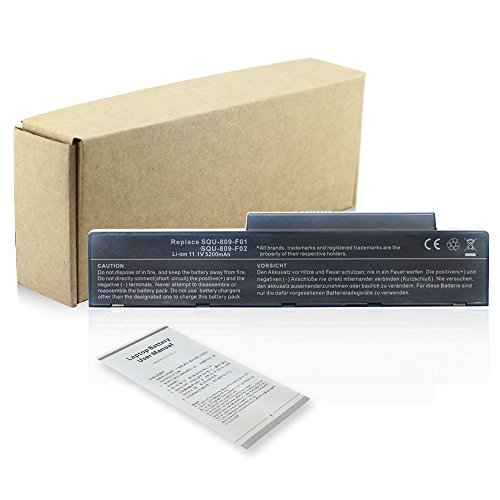 Bay Valley Parts Notebook Laptop Battery for Fujitsu-Siemens Amilo Li3710 Li3910 Pi3560 Pi3660 Li-3710 Li-3910 Pi-3560 Pi-3660 SQU-809-F01 SQU-808-F01 SQU-808-F02 3UR18650-2-T0182