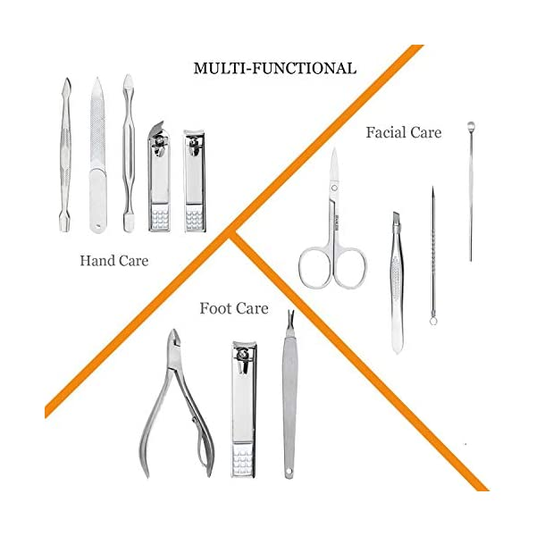 Beauty Shopping Manicure Set Professional Nail Clippers Kit Pedicure Care Tools- Stainless Steel