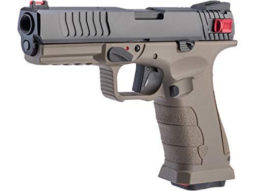 Evike Airguns - APS Shark Full Automatic Select-Fire CO2 Gas Blowback .177/4.5mm Air Pistol (Color: Desert)