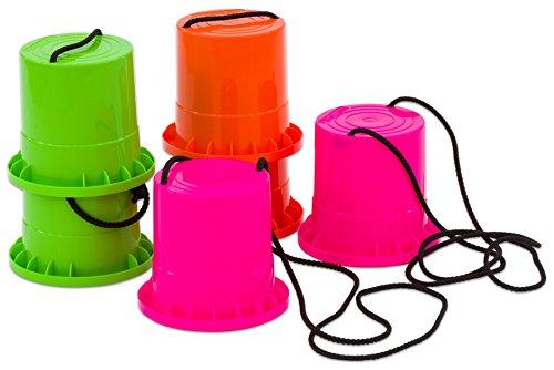 Betzold Sport 850102 - Laufstelzen-Set 3 Paar aus robustem Kunststoff - Becherstelzen