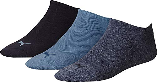 3 pair Puma Sneaker Invisible Socks Unisex Mens & Ladies In 3 Colours, Socken & Strümpfe:47-49, Farben:460 denim blue
