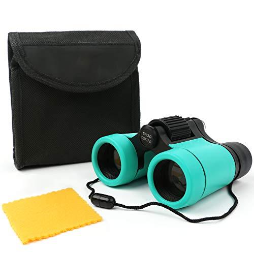 Scotamalone Kids Binoculars Best Gifts for 3-12 Years Boys Girls Compact Binocular Toys Shockproof Folding Small Telescope for Bird Watching,Travel, Camping