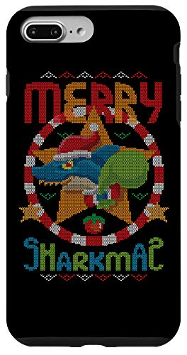 iPhone 7 Plus/8 Plus Merry Sharkmas Fish Santa Claus Shark Ugly Christmas Sweater Case