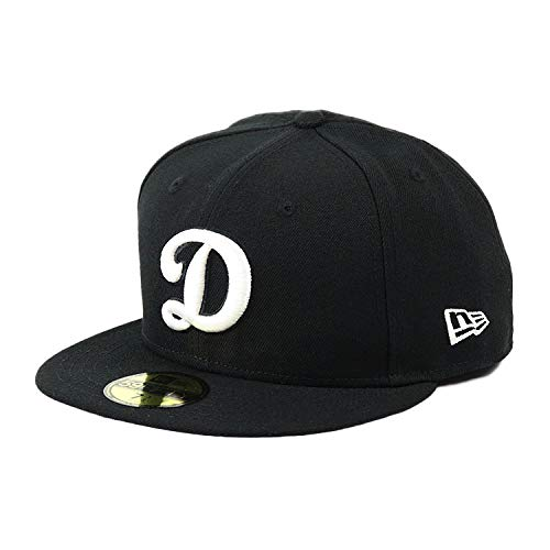 ニューエラ キャップ 59FIFTY ロサンゼルス・ドジャース ブラック グレー ベースボールキャップ NEWERA メンズ 帽子 MLB 大きいサイズ 野球帽 メジャーリーグ LA [並行輸入品]