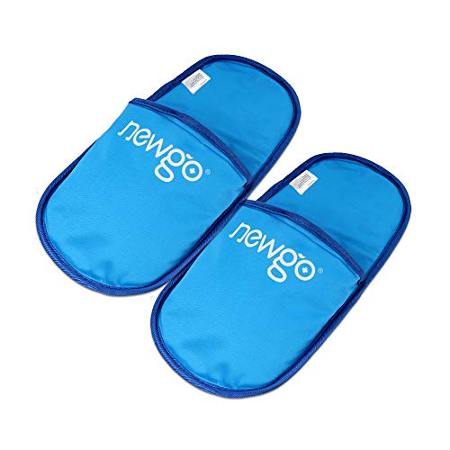 NEWGO®Ice Pack Slippers for Plantar Fasciitis 2 Pack Foot Ice Pack Cold Therapy Slipper for Sore Feet, Swelling, Edema, Arch, Chemotherapy, Post Partum Foot - 11.41' X 5.51'