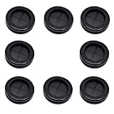 ECUDIS 1-3/16' ID 1-1/2' Drill Hole Rubber Grommets Firewall Hole Plugs Wire Protection(Round, 8 Pcs)