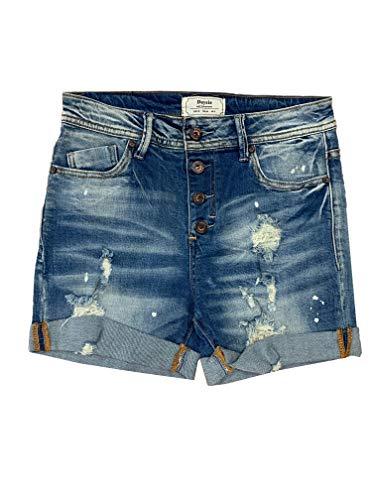 Crazy Age Dames Bermuda Shorts Dames High Waist Shorts korte broek 5 Pocket Jeans Shorts   Losse korte broek van hoogwaardige denim