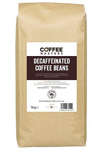 Coffee Masters Entkoffeinierte Kaffeebohnen (100% Arabica) 1Kg