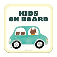 kids on Board 「くまのかぞくとおでかけ」 車用 カーステッカー (マグネット) /子供が乗ってます