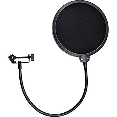 Heavy Duty Easy Use Microphone Swivel Pop Filter Double Layer Sound Shield Guard