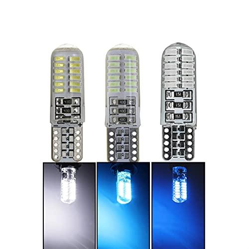 Luci di Ricambio a LED 10x Auto LED Segnale Lampadina Interni Light 12V T10 W5W Super Bright Lettura Auto Lettura Auto Lampato Lampato a Cuneo Lampada Laterale Strobe 24SMD Segnale di svolta