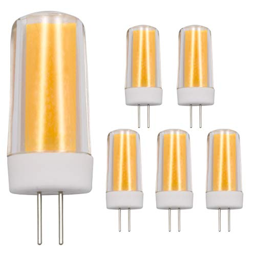 G4 LED-Leuchtmittel, 4 W, dimmbar, Warmweiß, 3000 K, T4 JC Bi-Pin Sockel, 220 V, 240 V, entspricht 30 W-35 W Halogenlampen, 5 Stück
