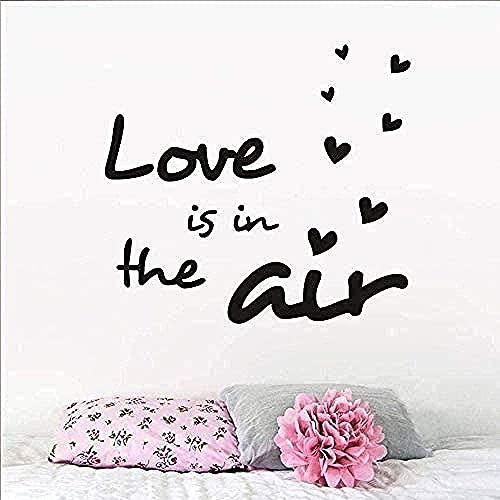 Pegatinas de pared Etiquetas engomadas de arte y amor Mural en la etiqueta de aire Pegatina Familia Love Dormitorio Boda Fiesta de la boda Arte de la pared Poster Mural DIY 59x41cm