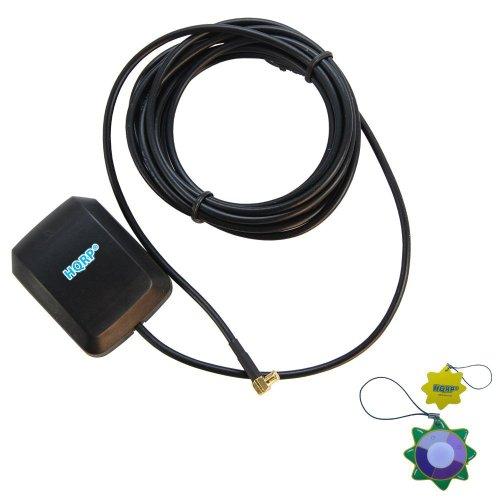 HQRP Antena Externa GPS amplificada 1575.42 MHz de Montaje magnético para Tomtom Go 510 (510) / Tomtom Go 700 / Tomtom Go 720 / Tomtom Go 910 (go 910) + HQRP medidor del Sol