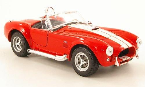 Shelby Cobra 427 SC, rojo/beige, 1965, Modelo de Auto, modello completo, Welly 1:24