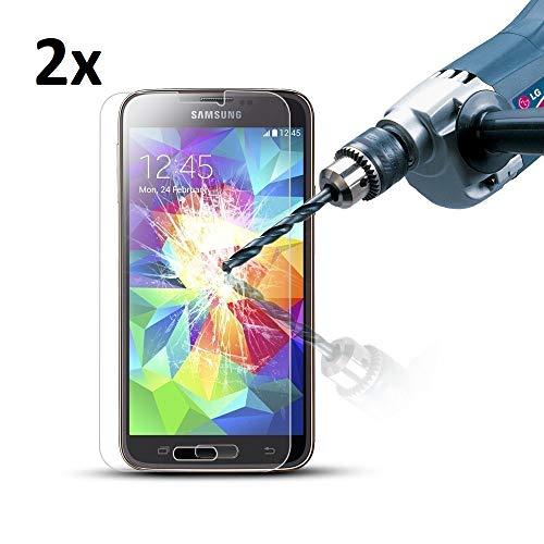 Cardana 2X Bruchsicheres Panzerglas für Samsung Galaxy S5 /S5 Neo Schutzfolie aus 9H Echt Glas Schutzglas Next Gen Transparent