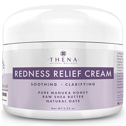 Redness Relief Face Cream With Colloidal Oatmeal Organic Manuka Honey Calendula Aloe Shea, Best Natural Skin Care & Face Care Facial Cream Moisturizer For Rosacea & Dry Skin Plant Based Formula