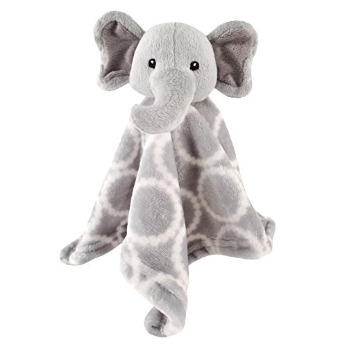 Hudson Baby Unisex Baby Security Blanket, Gray Elephant, One Size