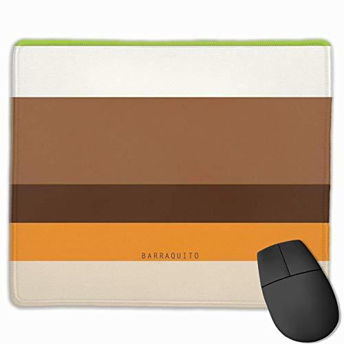 Barraquito Kaffee-Haferl Non-Slop Rubber Mousepad Gaming-Mauspad mit angenähtem Rand