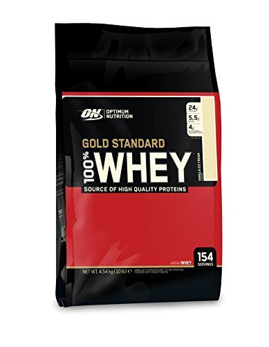 Optimum Nutrition 100% Whey Gold Standard, Vanilla Ice Cream, 10 Pound, Packaging May Vary by Optimum Nutrition