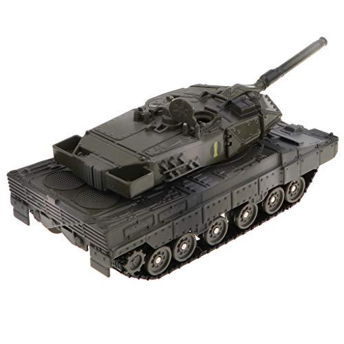 B Blesiya Realistische Zurückziehen Kampfpanzer Pullback Tank Model Kinderspielzeug mit Lichter und Sound - Leopard 2