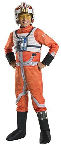 Rubie's Costume Kids Classic Star Wars Deluxe X Wing Fighter Pilot Costume, Medium