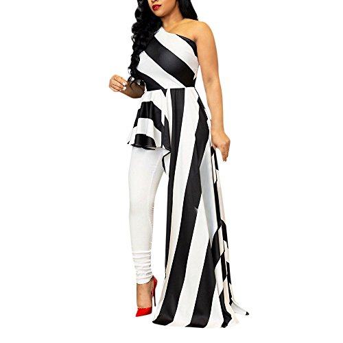 Off Shoulder Dresses for Women Plus Size Maxi Casual Summer Cocktail White Midi Black Knee Length Sexy Party Clubwear Single Shoulder Stripe Dress