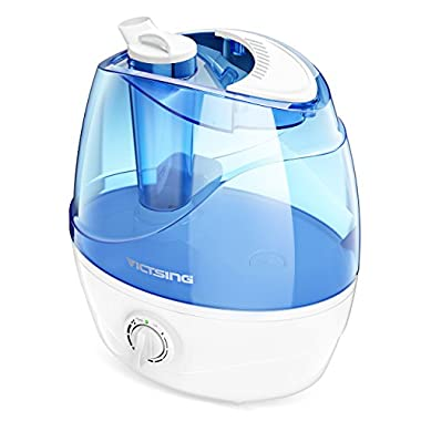 VicTsing Cool Mist Humidifier, Ultrasonic Humidifiers for Bedroom Baby, Premium Humidifying Unit with Whisper-Quiet Operation, Auto Shut-Off, Anti-Slip Handle, 12-24 Hours Working Time (BPA-Free)
