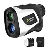 TIDEWE Golf Rangefinder with Slope & Magnetic Holder, 700Y Flag Pole Locking Multi Functional Laser Rangefinder with Rechargeable Battery for Golfing & Hunting (White)