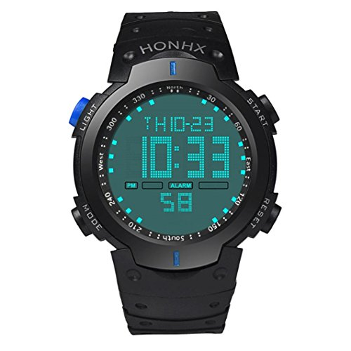 Xinantime Reloje Hombres,Xinan Hombres LCD Digital Sportwatch Reloj Pulsera para Niño (Azul)
